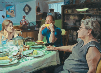 Summer Supper, painting by Michael De Brito, painting, how to paint a portrait