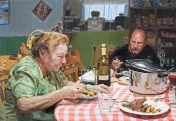 Prima, painting by Michael De Brito, how to paint a portrait