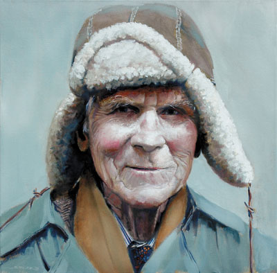 Portrait of Barry by Joel Spector artist, oil figure painting, art competition
