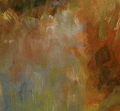 Detail: Summer's End (oil, 9x12) by Michael Chesley Johnson