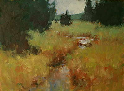 Finished painting: Summer's End (oil, 9x12) by Michael Chesley Johnson