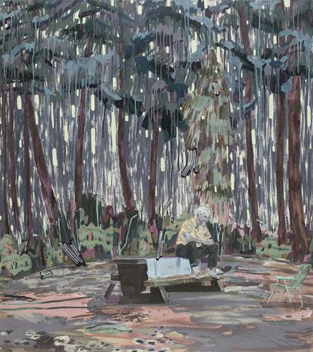 Waiting for Kay (oil, 55x49) by Melanie Daniel