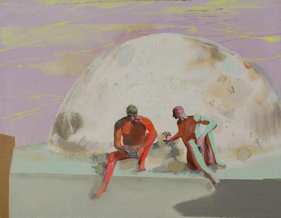 Shin Gimel (oil, 51x71) by Melanie Daniel