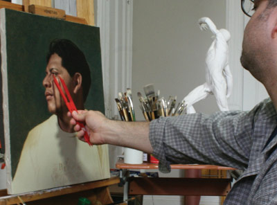 painting proportion, drawing proportion, Robert Armetta artist, composition tip
