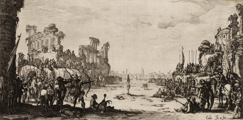 The Martyrdom of St. Sebastian painting by Jacques Callot, art exhibition