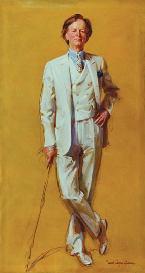 Tom Wolfe oil painting by Everett Raymond Kinstler, portrait artist, art exhibition