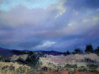 Pastels: Making Clouds Move in a Painting