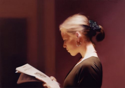 Gerhard Richter oil painting | Reader