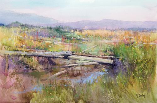 Summer Driftwood | pastel