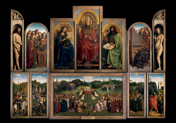 Jan And Hubert Van Eyck The Ghent altarpiece panel painting multi figure