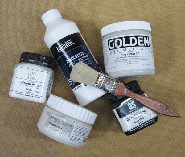 pastel pointers on commercial pastel primers and grounds