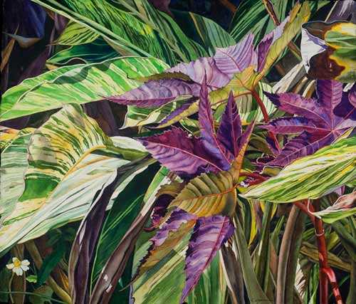 Castor Bean and Ginger (watercolor on paper) by Christine Cozic | watercolor