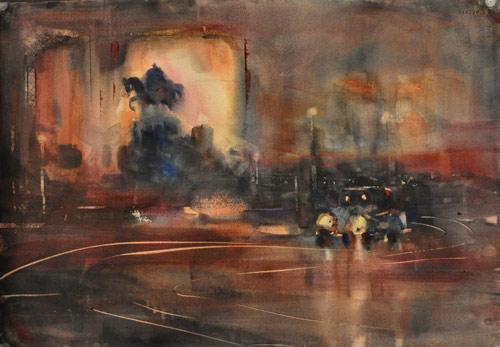 Magic of the Night | watercolor
