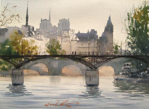 Ile de la Cite | watercolor