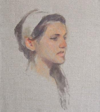 flesh tone, portrait painting, Tom Root art