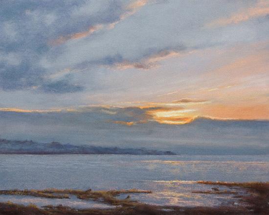 pastel painting, pastel landscape, pastel landscape painting