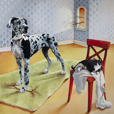 dog art, pictures of dogs, Dana Hawk art