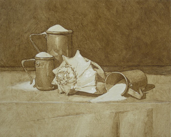still life step-by-step | Douglas Flynt art, drawing grisaille ebauche