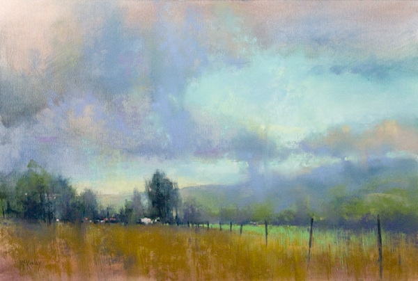 Pastel landscape by Richard McKinley