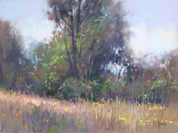 Minnesota Morning, 9x12 en plein air pastel field sketch by richard mckinley