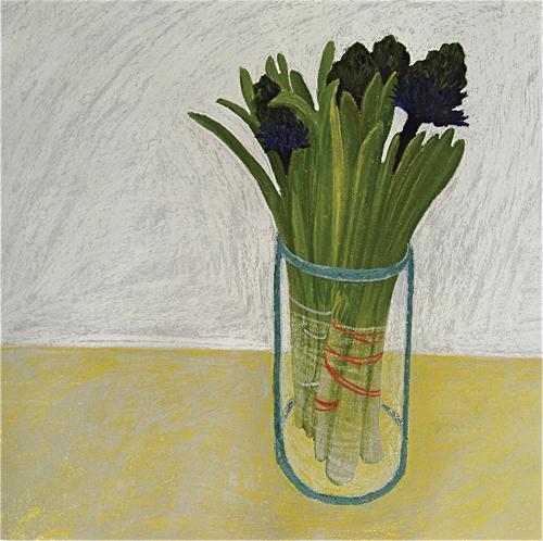 Opening Hyacinths | pastel