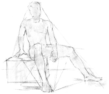 step-by-step instruction, how to draw the human figure