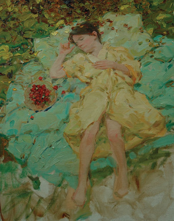 thick oil paint, David Hettinger art, oil painting