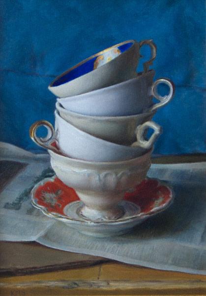 Tea Stack | oil on linen