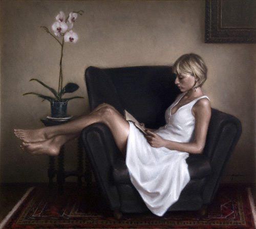 In the Gold Room - A Harmony. Oil painting by Justin Hess | ArtistsNetwork.com