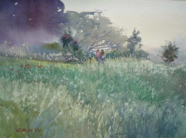 watercolor landscapes, watercolor art, landscape paintings, plein air art