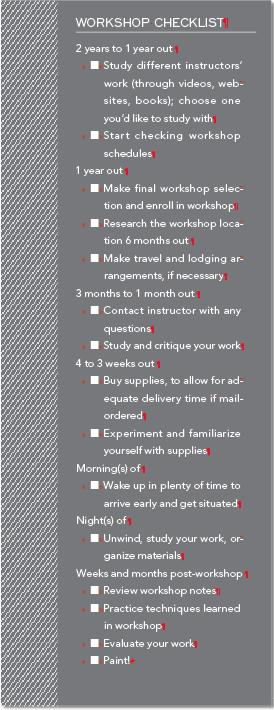 Art Workshop Checklist
