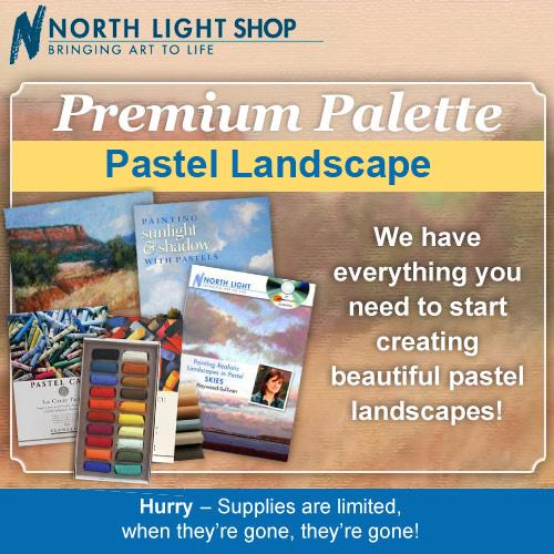 Premium Pastel Landscape Palette | pastel landscape painting