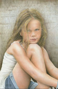 portrait drawing, colored pencil drawing, Carol Maltby art