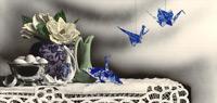 still life drawing, flower drawing, Sandra Willard art