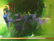 oil figure painting, ballerina painting, Devdatta Padekar art