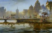 watercolor painting, Prafull Sawant art