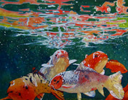 acrylic painting, fish painting, Rhonda Anderson art