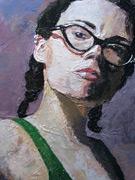 acrylic portrait painting, Stephanie Sherman art