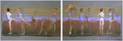 pastel painting, ballerina painting, Devdatta Padekar art