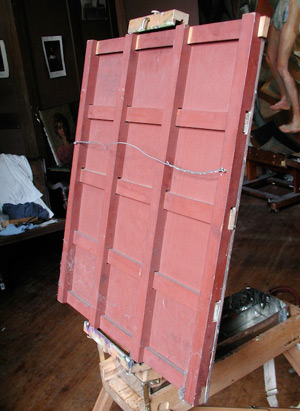 Oil Portrait of Padme 1 - Panel in Herman Wessel's Attic | Star Wars Art | How Carl Samson Painted an Oil Portrait of Padmé for Star Wars Art: Visions by George Lucas
