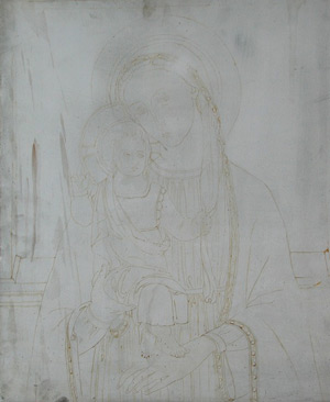 Oil Portrait of Padme 3 - Sketch Madonna and Child | Star Wars Art | How Carl Samson Painted an Oil Portrait of Padmé for Star Wars Art: Visions by George Lucas