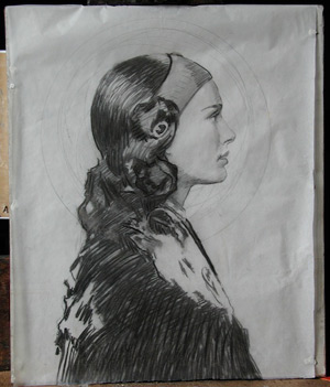Oil Portrait of Padme 5 - Placement of Mandala | Star Wars Art | How Carl Samson Painted an Oil Portrait of Padmé for Star Wars Art: Visions by George Lucas