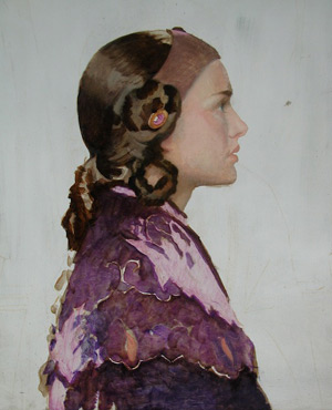 Oil Portrait of Padme 6 - Laying in Image of Padme | Star Wars Art | How Carl Samson Painted an Oil Portrait of Padmé for Star Wars Art: Visions by George Lucas
