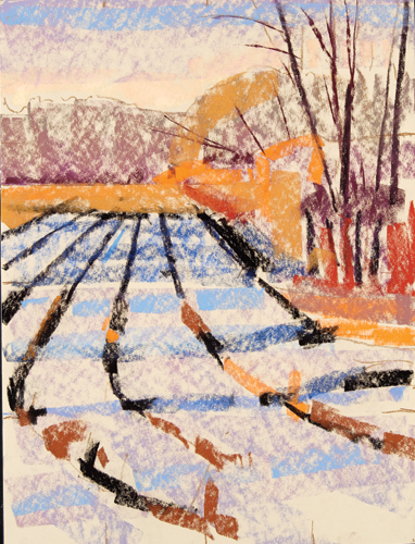 painting snow in pastel: step 2 | pastel demonstration