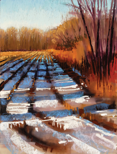 painting snow in pastel: step 6 | pastel demonstration