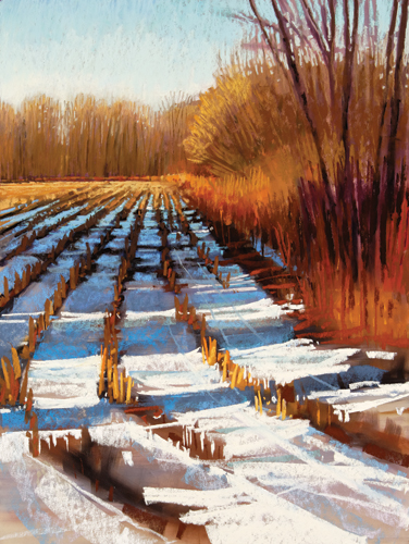 painting snow in pastel: step 7 | pastel demonstration