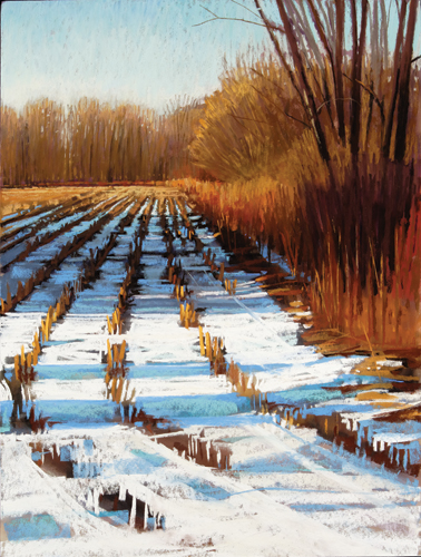 painting snow in pastel: step 8 | pastel demonstration