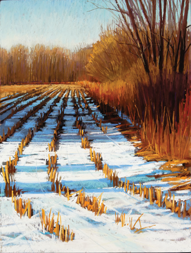 painting snow in pastel: step 9 | pastel demonstration