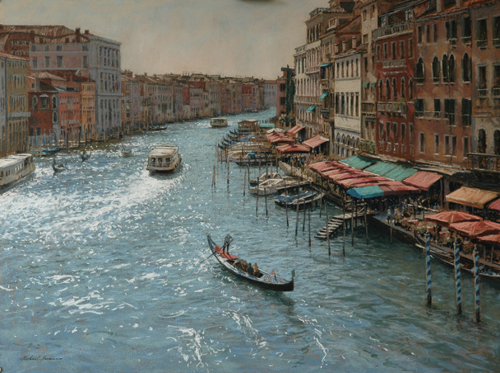 the grand canal in venice | pastel landscape and architectural gallery
