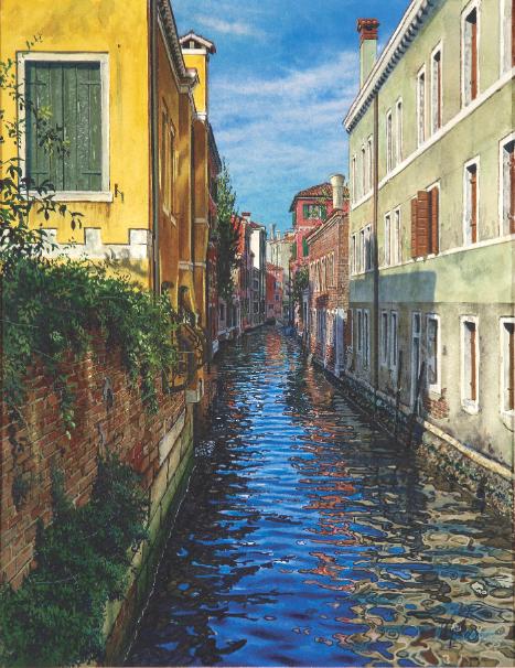 Splash: Best of Watercolor  |  A Side Canal, Venice